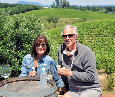 Visitors enjoy vineyard views, good weather and wine tasting outdoors, where tables are physically distanced and appointment-only tastings control the flow of guests. Iron Horse Vineyards photo.