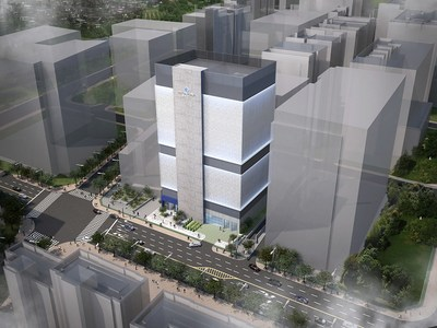 Digital Realty's new carrier-neutral ICN10 data center in Seoul, currently under construction in Seoul.