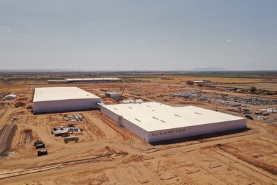 Lucid has made great strides in expanding its manufacturing infrastructure, with its factory in Casa Grande, AZ – the only purpose-build facility in the US for electric vehicle production – on target for the completion of construction on its phase one build this year.
