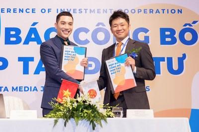 Signing ceremony between Beta Media and Daiwa PI Partners