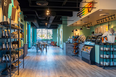 Badass Coffee of Hawaii new store redesign features décor that reflects an authentic Hawaiian vibe that is fresh, cool, and full of badass attitude.