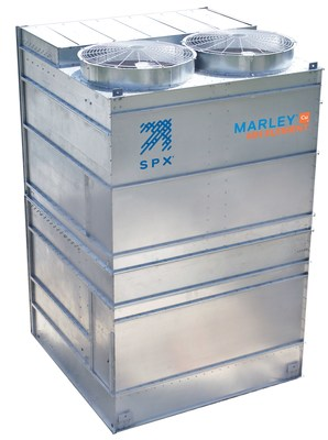 The new Marley MH Element Fluid Cooler increases thermal performance within a smaller footprint and lower weight.