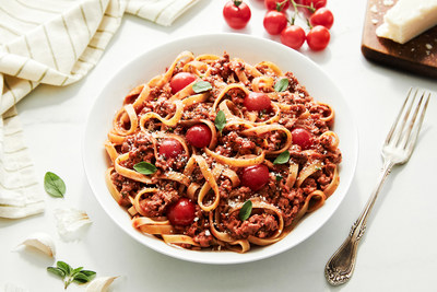 It's OZO™ good!  Abundant flavor and exceptional taste are brimming in this pasta dish created with the new OZO™ Ground plant-based offering by Planterra Foods.  An excellent source of protein (up to 22 grams per serving), OZO™ is made with pea protein fermented by shiitake mushrooms, contains soy-free ingredients, and is certified vegan by BeVeg and non-GMO (June, 2020).