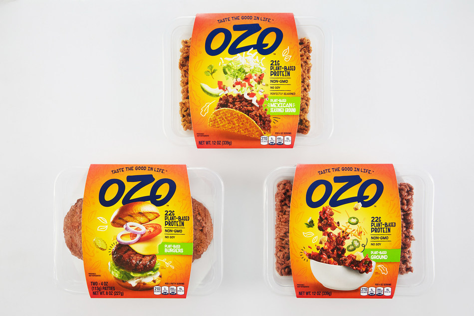 New OZO™ line delivers delicious plant-based protein possibilities with simple ingredients and pea protein fermented by shiitake mushrooms (June, 2020).