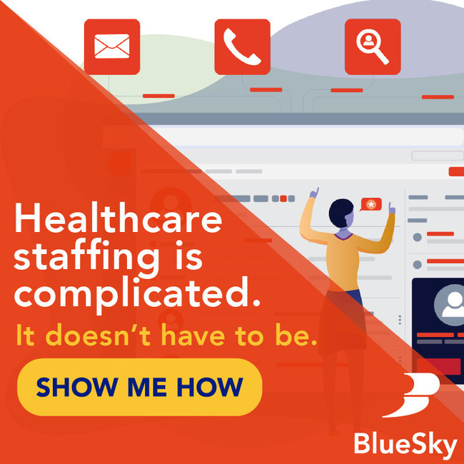 BlueSky Medical Staffing Software for Healthcare Contingent Labor and Optimization of Clinical Workforce Management. Front to Back Office Consolidated In One Suite. Candidates and Vendors Managed Easily.