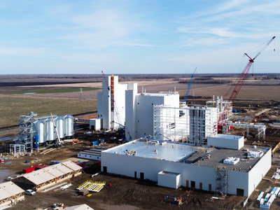 Roquette's new pea protein production plant in Portage la Prairie (CNW Group/Protein Industries Canada)