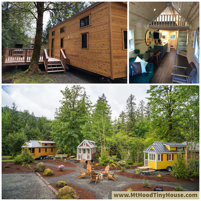 Petite Retreats adds two new tiny houses at Mt. Hood Tiny House Village, bringing the total to seven tiny houses and making it the largest village in their collection. Mt. Hood, the original Petite Retreats location is now home to some of the biggest tiny house models featuring new floor plans that are coming in at just under 360 square feet and sleep five to seven guests. The new tiny houses are open and are currently taking reservations.