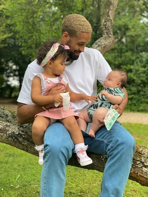 Diversity Star Ashley Banjo posts adorable family pic and pledges to work with new eco baby wipe brand Pura to help wipe out plastic wipes.