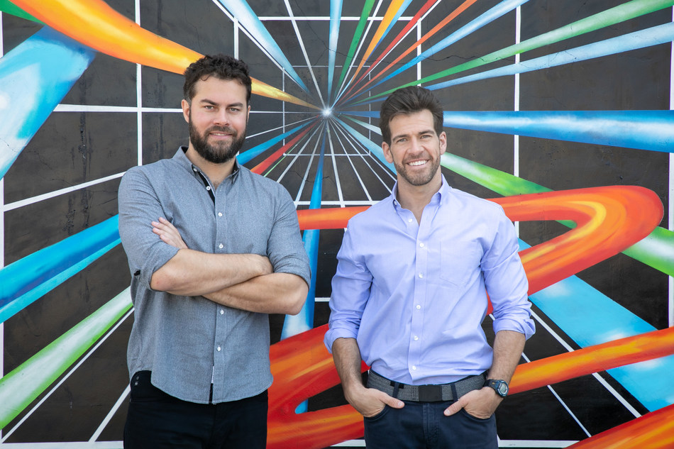 Brad Greiwe (left) and Brendan Wallace (right) co-founded Fifth Wall in 2016. The firm became a Certified B Corporation on April 10, 2020. Photographer: Rocco Ceselin