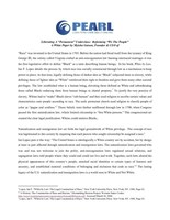 Paper on Institutional Racism in America. http://www.pearlltcsolutions.com/racialequity
