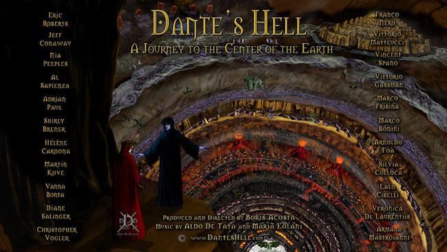 Inferno Panoramic, an original painting to Dino Di Durante exposing the Anunnaki and Illuminati in Hell.