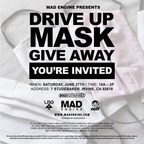 Mad Engine Gives Away Fabric Masks to Families in Need