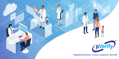 pVerify's best-in-class patient eligibility verification, human-enabled AI and Rest API insurance verification solution for healthcare - medical offices, clinics, ophthalmology, optometric, podiatry, dermatology, DME, cardiology, ambulatory practices, healthcare software, EMR software, and related areas