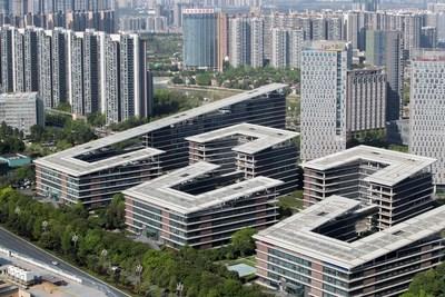 Foto del Chengdu Tianfu Software Park/Zhang Jian (NBD) (PRNewsfoto/National Business Daily)