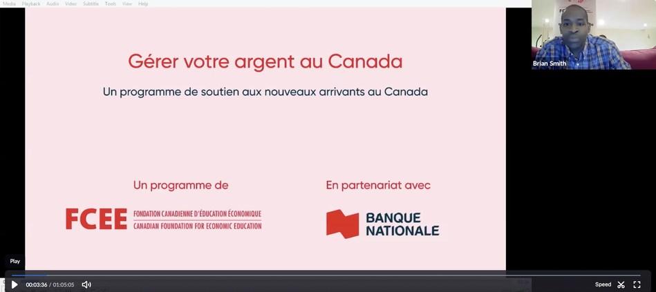 La Fondation canadienne d'éducation économique et la Banque Nationale annoncent une initiative pour soutenir les nouveaux arrivants au Canada (Groupe CNW/Fondation canadienne d'éducation économique)