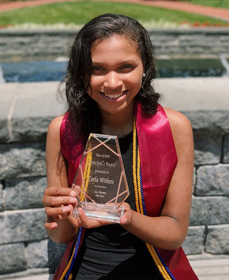 Cayla Withers, a recent graduate of A.L. Brown High School in Kannapolis, NC, was awarded Zeta Phi Beta Sorority, Incorporated's Triumphant Founder Arizona Cleaver Stemons Centennial Scholarship in the amount of $100,000 on June 19, 2020. The surprise presentation was recorded on news channel WSOC-TV in Charlotte.