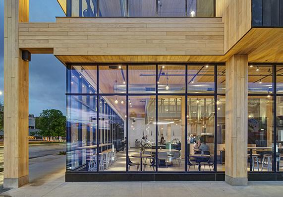 2020 Wood Design Award Winner. Category: Commercial Wood Design - Mid-Rise.