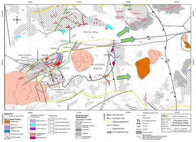 Map 1: Chinchillones Complex – Lithology and Structural Map (CNW Group/Minsud Resources Corp.)