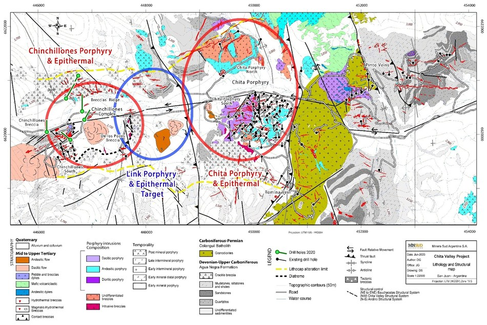 Map 2: Chita Valley Project – Lithology and Structural Map (CNW Group/Minsud Resources Corp.)