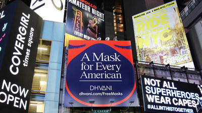 DHVANI is on a bold mission to provide a mask for every face in America and ultimately slow the spread of the COVID-19 pandemic by 90%