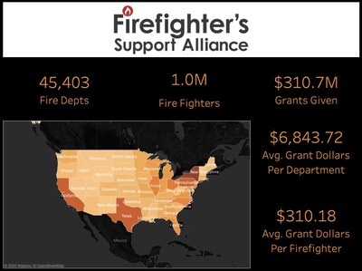 Firefighter's Support Alliance Interactive Map