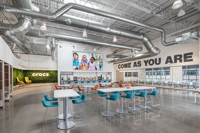 Crocs unveils its new state-of-the-art corporate headquarters in Broomfield, Colorado. The approximately 90,000 square foot facility will allow the company to significantly expand its ability to hire more full-time jobs.