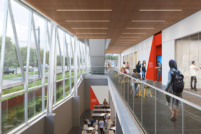 Ground floor interior rendering of the School of Continuing Studies' new building. (CNW Group/York University School of Continuing Studies)