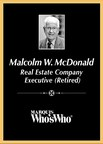 Malcolm W. McDonald Recognized for Excellence in Real Estate