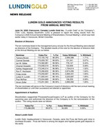 Lundin Gold Announces Voting Results from Annual Meeting (CNW Group/Lundin Gold Inc.)