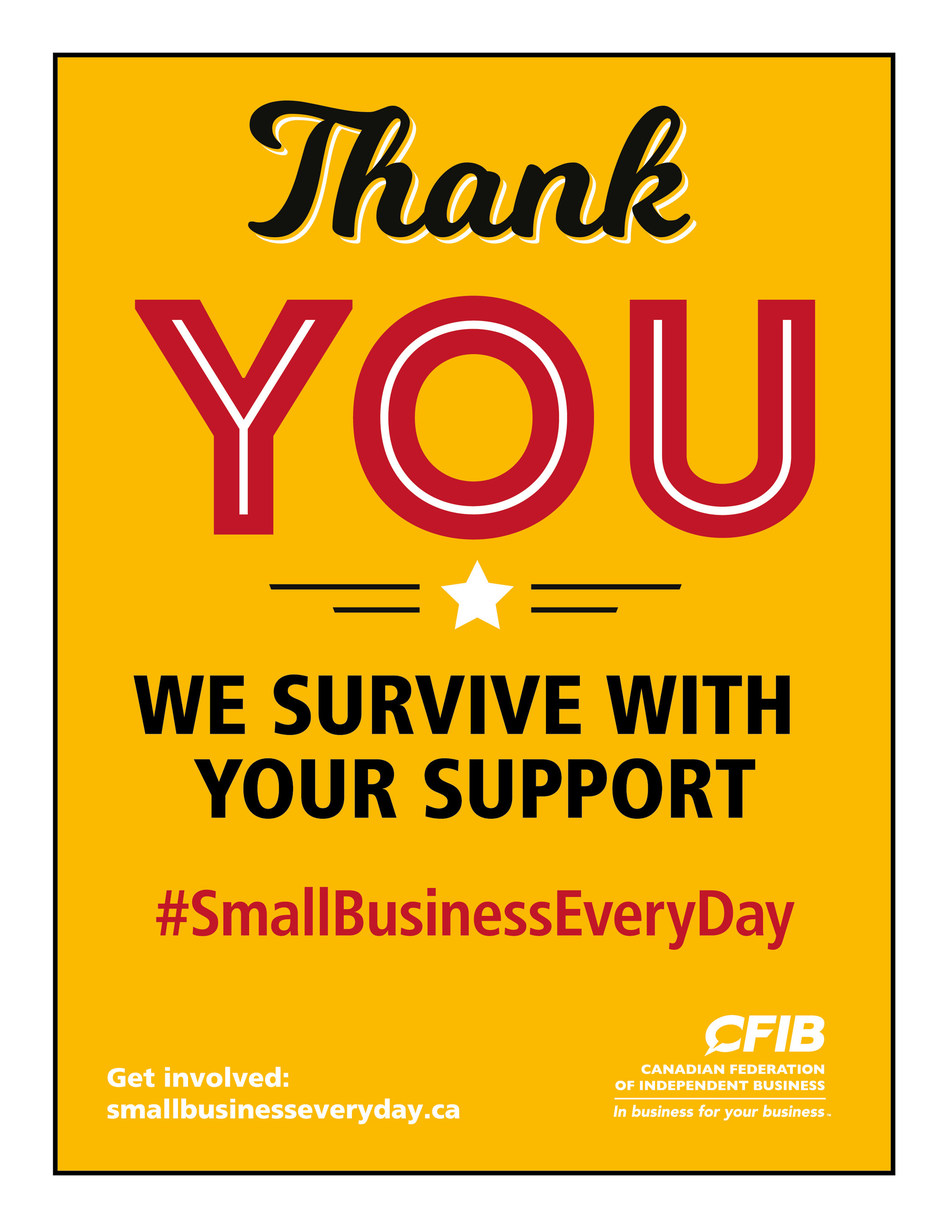 #SmallBusinessEveryDay poster (CNW Group/Canadian Federation of Independent Business)