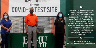 Honda has partnered with 58 HBCUs, including Florida A&M University, on a COVID-19 relief initiative to address immediate needs within their communities.