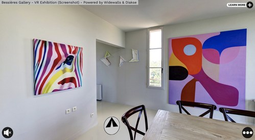 Bessieres Gallery - VR Exhibition Powered by Widewalls and DIAKSE