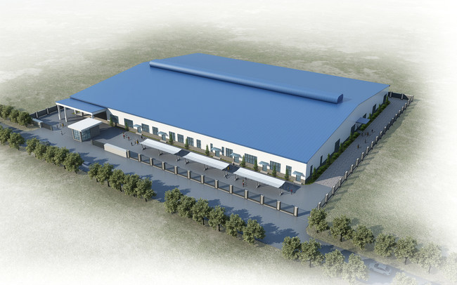 3D Rendering of PRIMED's Manufacturing Facility in Vientiane, Laos