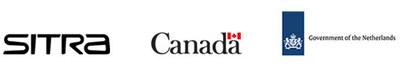 Logos de Sitra, Gouvernement du Canada, Gouvernement des Pays-Bas (Groupe CNW/Environnement et Changement climatique Canada)