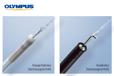 Olympus announces the market availability of two single-use electrosurgical knives for Endoscopic Submucosal Dissection (ESD): the 510(k) cleared HookKnifeJ for the esophagus, stomach and colon and the TriangleTipKnifeJ for the esophagus and stomach, which comes with a specific indication for Peroral Endoscopic Myotomy (POEM), a type of ESD used to perform esophageal myotomy for patients with swallowing disorders.