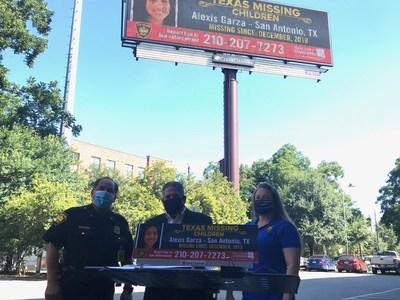 Photos of Alexis Garza will be displayed on digital billboards throughout the San Antonio region.