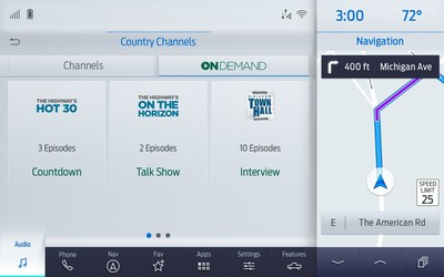 SiriusXM with 360L gives the listener access to over 10,000 hours of on-demand SiriusXM exclusive shows, interviews and events in the car, giving listeners more of what they want, when they want to hear it.