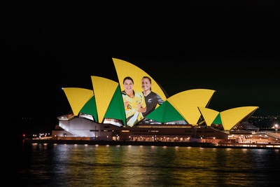 FIFA Women's World Cup 2023TM Host Nation Announcement at the Sydney Opera House (PRNewsfoto/Destination NSW)