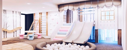 A custom room takover designed by the Playhaus team