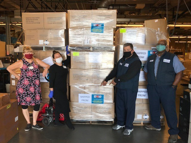 Arrowhead Regional Medical Center Employees receiving their PPE delivery on June 24, 2020.