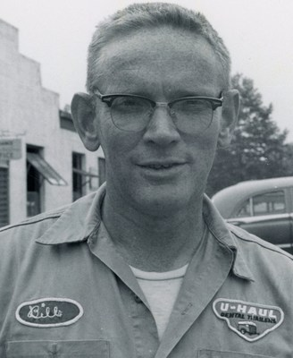 Bill Kreckman as a U-Haul Team Member in Pennsylvania, circa 1963. U-Haul, founded by a WWII-era Navy veteran and his wife, is celebrating the 75th anniversary of its company -- as well as the end of WWII -- by honoring veterans like Philadelphia native Bill Kreckman, who planted the seeds of prosperity for U-Haul after they served.