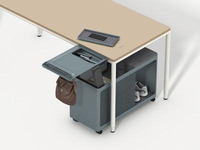 Olli, a new generation work trolley for Watson's award-winning C9 furniture system.