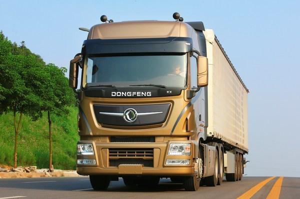 A Dongfeng heavy-duty truck