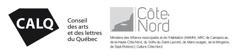 Les partenaires de l'investissement dans des projets artistiques nord-côtiers sont le Conseil des arts et des lettres du Québec (Conseil), le ministère des Affaires municipales et de l'Habitation (MAMH), les Municipalités régionales de comté (MRC) de Caniapiscau, de la Haute-Côte-Nord, du Golfe-du Saint-Laurent, de Manicouagan, de Minganie, de Sept-Rivières, en collaboration avec Culture Côte-Nord. (Groupe CNW/Conseil des arts et des lettres du Québec)