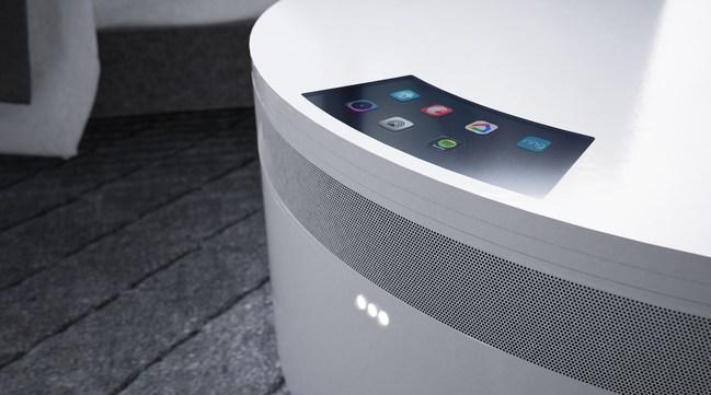 Comet nightstand integrates smart home devices.