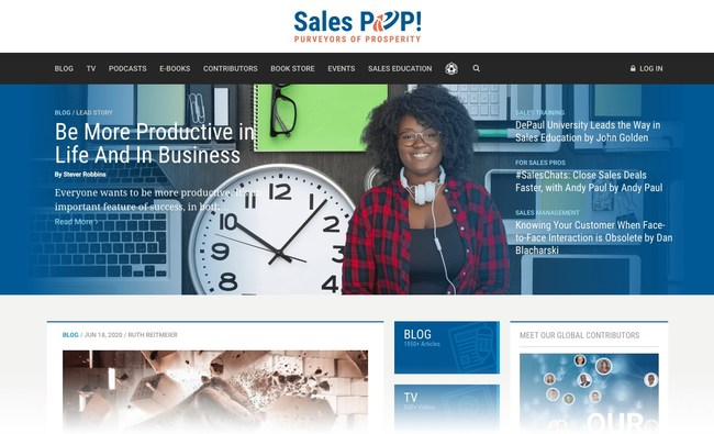 Sales POP! online multi-media magazine now embedded in Pipeliner CRM