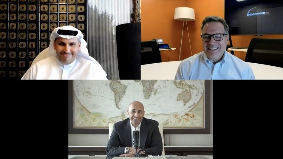 Ambassador Yousef Al Otaiba hosted Khaldoon Al Mubarak, CEO of Mubadala and David McCormick, CEO of Bridgewater Associates on the 2nd episode of the Podbridge podcast.