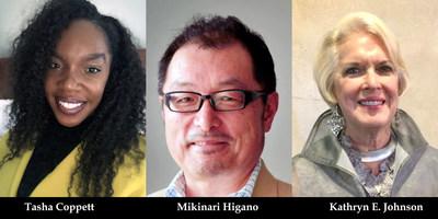 (L-R) Tasha Coppett, Mikinari Higano, Kathryn E. Johnson