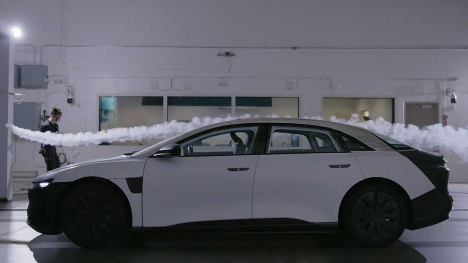 Lucid Motors achieved the new aero benchmark of 0.21 for the Lucid Air with meticulous attention of detail - including vents that channel air smoothly around the vehicle, a diffuser integrated into the battery design, and aerodynamically optimized wheel designs - allowing it to achieve over 400-miles of range in real-world driving.