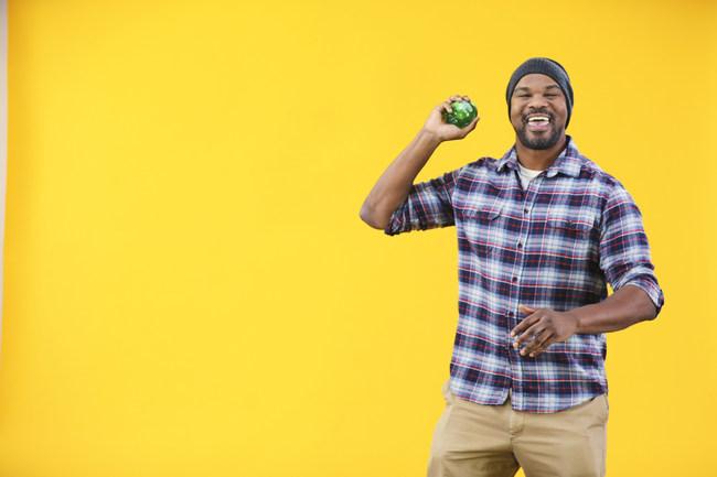 "Harold Sherrell dances with a Forbidden Apple BuzzBallz during the ""Shake It"" video shoot. Photo courtesy of BuzzBallz, LLC/Southern Champion. Photos shot by Clay Hayner."